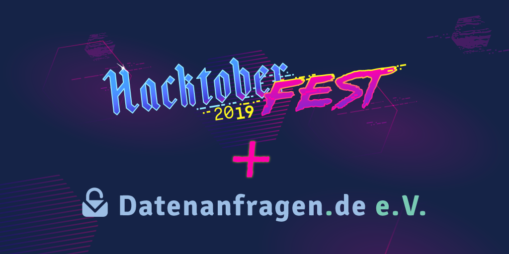 We are participating in the Hacktoberfest 2019!